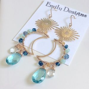 Aqua celestial earrings